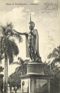 hawaii, HONOLULU, Statue of Kamehameha (1910) Stamp