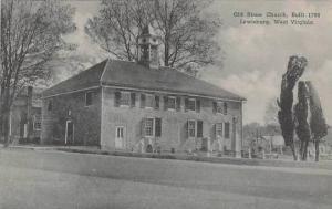 West Virginia Lewisburg Old Stone Church Albertype