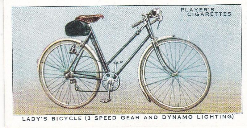 Cigarette Cards Players CYCLING No 29 Lady's Bicycle