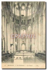 Old Postcard Bourges The Cathedral Choir