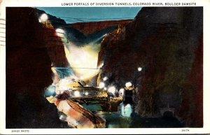 Nevada Boulder Damsite Lower Portals Of Diversion Tunnels Colorado Riverv 193...