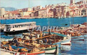 Modern Postcard Marseille (B Rh) the Old Port with its Ferry Boat