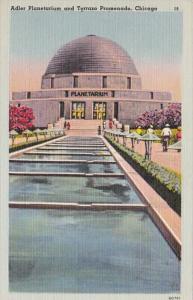 Ilinois Chicago Adler Planetarium & Terrazo Promenade 1953