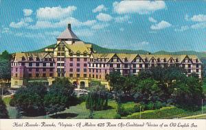 Hotel Roanoke Roanoke Virginia 1960