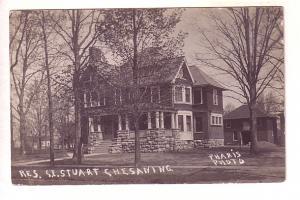 Real Photo Residence of SE Stuart, Chesaning, Michigan, Pharis Photo