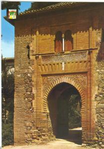 Spain, GRANADA, Alhambra, Wine Door, Front façade, unused Postcard