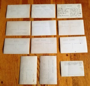 12 RPPC's Post Card Pictures from early 1900's