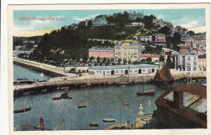 P1833 old pc harbor town view torquay waldon hill england