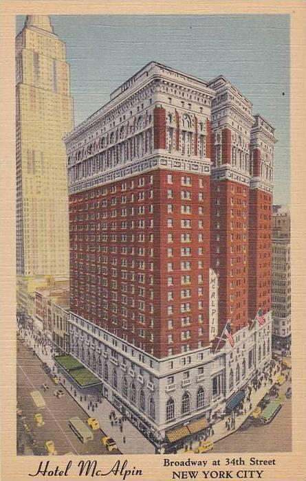 Aerial view,  Hotel McAlpin,  New York City,  New York,  PU_1950