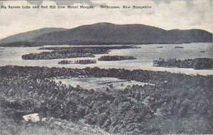 New Hampshire Holderness Big Squam Lake and Red Hill From Mount Morgan Albertype