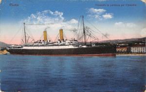 B23821 Fiume Rijeka Piroscafo  ship parteza  America Censored  Ljubljana croatia