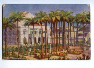 173502 BRAZIL Pernambuco Jaroim Theatre Vintage TUCK postcard