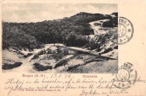 Bergen North Holland Netherlands Sand Dunes Duinzicht Antique Postcard (J32055)
