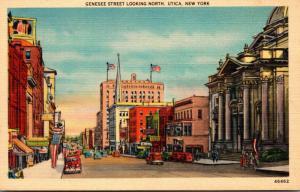 New York Utica Genesee Street Looking North