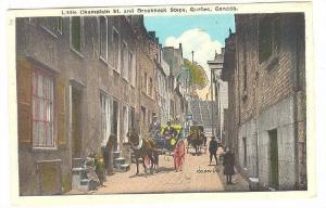 Little Champlain Street & Breakneck Steps, Quebec, Canada, 1930-1940s
