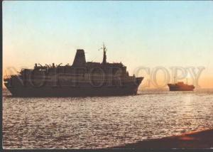 114202 RUSSIA USSR Motorship SHOTA RUSTAVELI in New Zealand PC