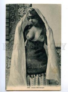 173807 Young Moorish semi-nude girl belly dancer Vintage
