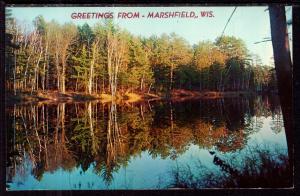 Greetings From Marshfield,WI Lake Scene