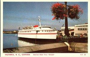 American Motor Ferry Chinoook Victoria B.C.Vintage Postcard Standard View Card