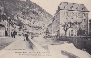 Morez Jura Hotel De La Poste Old French Postcard