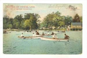 Boating On Crystal Lake,Top of Orange Mountain,New Jersey,1908