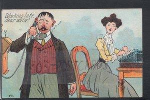 Comic Postcard - Office / Work / Typist / Secretary / Husband / Affair HP680