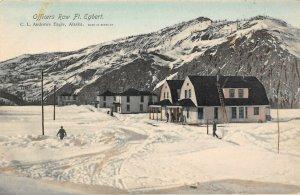 LP08   Eagle Alaska Fort Ft Egbert Army Base  Postcard Military Officers Row