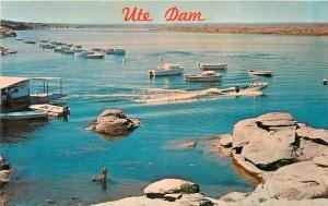 Ute Dam Tucumcari New Mexico yacht boats Postcard