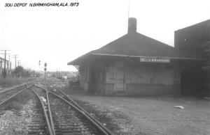 North Birmingham Alabama Train Station Real Photo Vintage Postcard JA454661