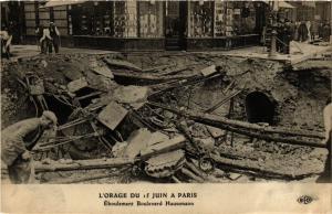 CPA L'ORAGE DU 15 JUIN a PARIS (8e) Éboulement Bd Haussmann (198993)