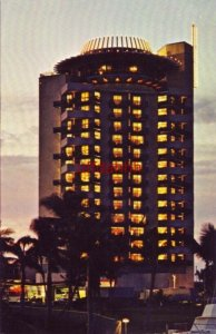 PIER 66 LUXURY HOTEL crowned by the PIER TOP LOUNGE. FT. LAUDERDALE, FL 1966