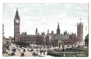 UK London England Houses of Parliament Westminster Postcard