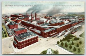 South Bend Indiana~Studebaker Vehicle Works~Car Factory Panorama~101 Acres~1909
