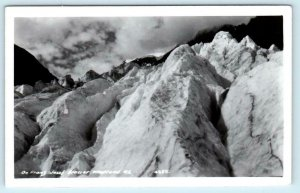RPPC  FRANZ JOSEF GLACIER, Westland NEW ZEALAND Real Photo Postcard