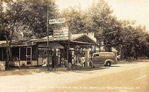 Bellows Falls VT Whippowil Tea Room Texaco Gas Station Real Photo Postcard