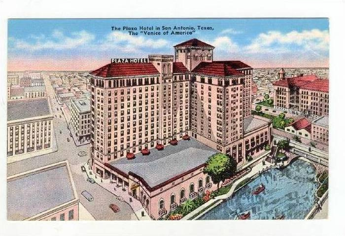 The Plaza Hotel,San Antonio,Texas,1930-40s