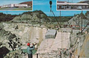 3-Views, Rock of Ages, Granite Quarry, BARR, Vermont, 40-60s