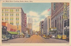 Ohio Akron Main Street Looking North 1944