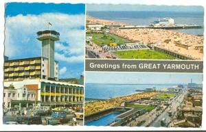 UK, Greetings from GREAT YARMOUTH, 1970s used Postcard