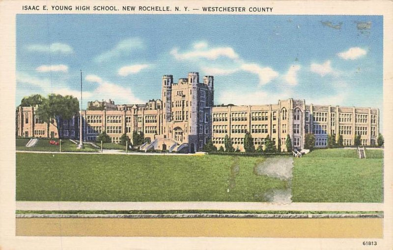 Isaac Young High School New Rochelle NY Linen P126