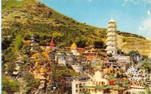 Hong Kong panoramic view entirety of Tiger Balm Garden vintage pc Z45638