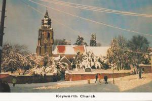 Keyworth Church Snow Christmas Nottingham Village Limited Edition 1000 Postcard