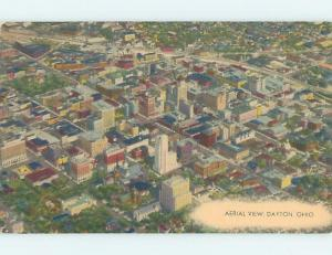 Linen AERIAL VIEW Dayton Ohio OH A5474