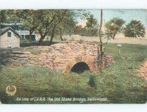 Divided-Back OLD STONE BRIDGE Bellewood New Jersey NJ d5155