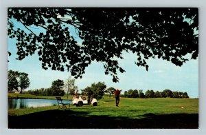 Traverse City MI, Elmbrook Golf Course, Chrome Michigan Postcard