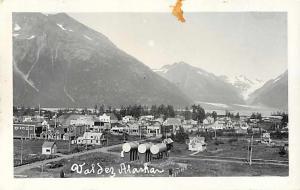 RPPC View of Valdez Alaske AK