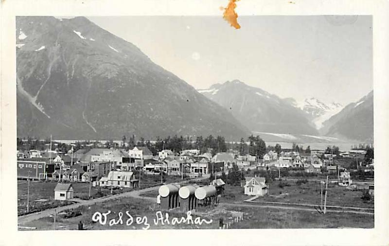 RPPC View of Valdez Alaske AK