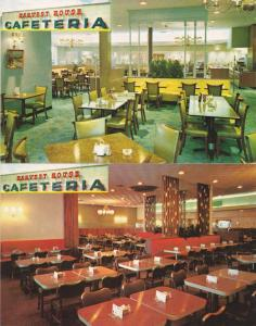 (2 cards) Harvest House Cafeteria Restaurant Atlanta Baltimore - Miami - Dallas