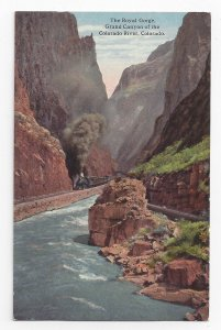 Grand Canyon CO Royal Gorge Colorado Arkansas River Vintage Curteich Postcard