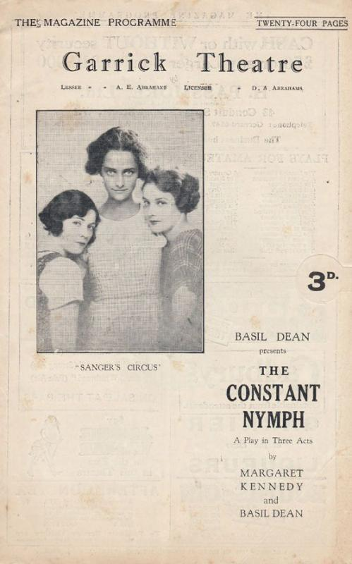The Constant Nymph Basil Dean London Garrick Theatre Antique Programme